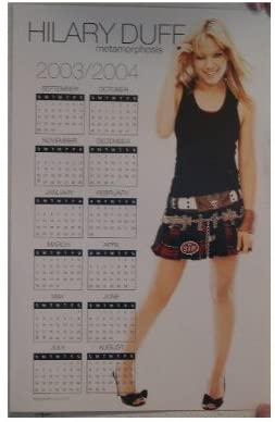 Hillary Duff Poster 2003-2004 calendar Mini Skirt