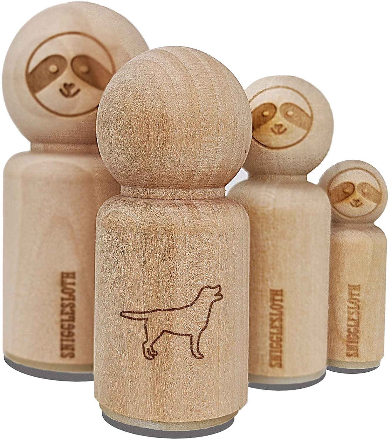 Labrador Retriever Dog Outline Rubber Stamp for Stamping Crafting Planners - 1/2 Inch Mini