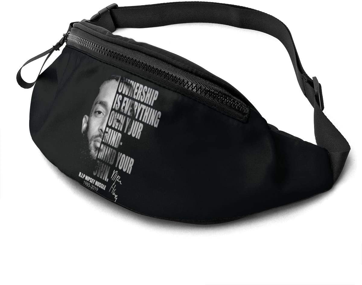 Mr.Wessly N-I-P-S-E-Y Hussle Casual Waist Bag Fitness Belt Bag Men Women
