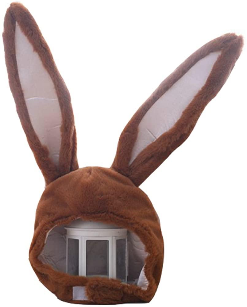 YARUODA Plush Fun Bunny Ears Hood Women Costume Hats Warm Soft and Cozy