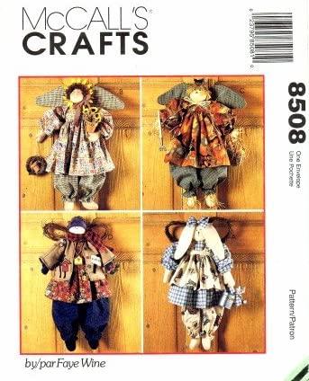 McCall's Crafts Pattern 8508 Seasonal Angels by Faye Wine
