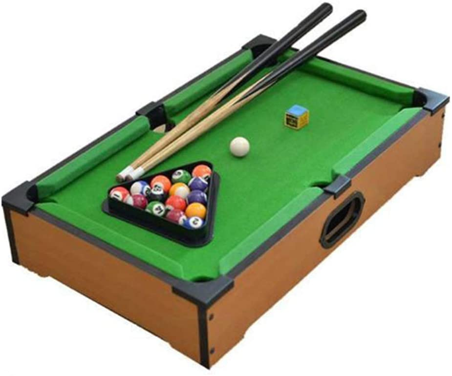 Mini Tabletop Pool Set Kids Mini Pool-Billiard Table Table Top Miniature Pool Game Set for Adults Tabletop Toy Pool Table Tabletop Billiards & Pool (Color, Size : 31x51x11cm)