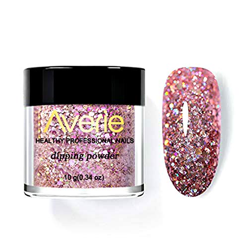 Dip Powder.Lightweight Nail Dipping Powder.Holographic Powders Gradient Glitter Decoration Lasting than UV Gel Natural Dry Without Lamp Cure (N18)