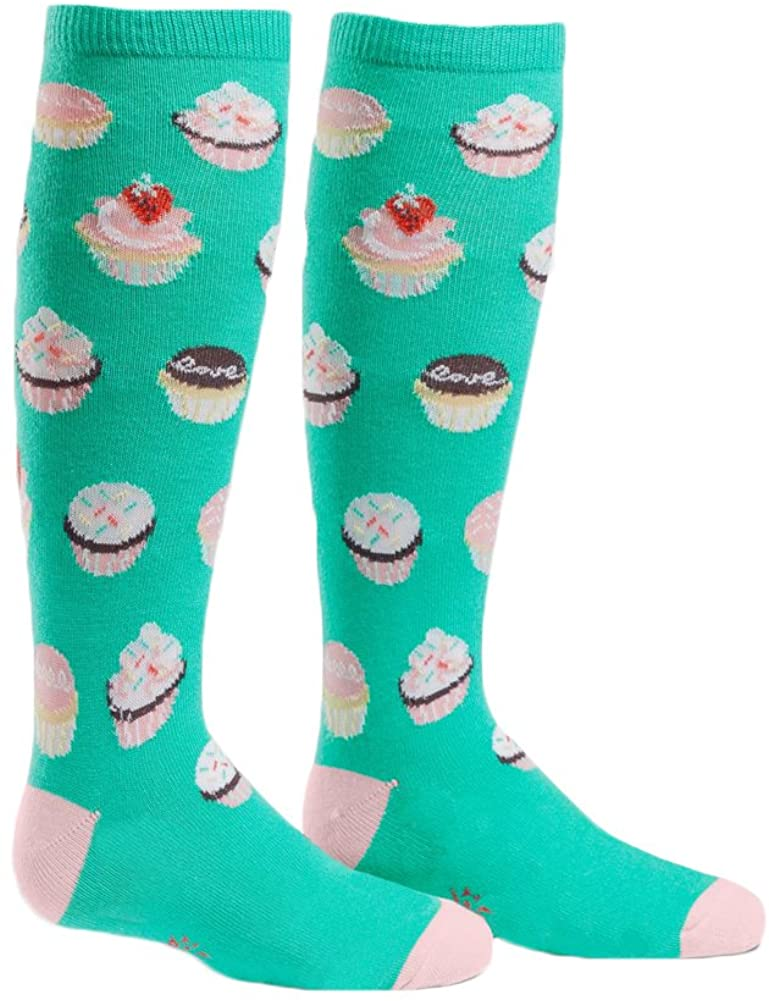 Sock It To Me, Let Them Eat Cupcakes, Youth Knee-High Socks, Cupcake Socks