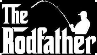 RAD Fishing Rodfather Vinyl Decal Sticker | Cars Trucks Vans Laptops | White| 5.5
