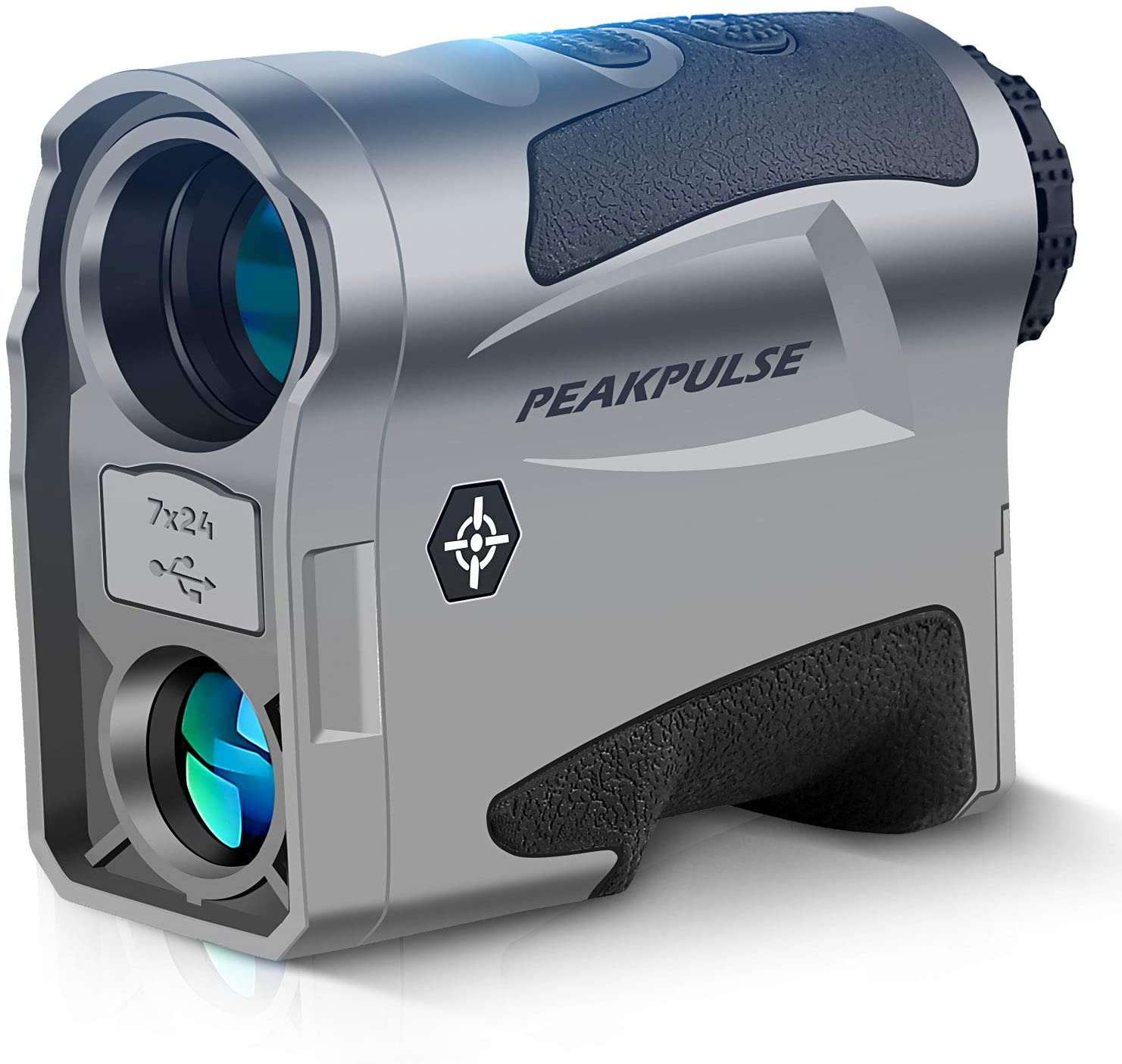 PEAKPULSE MA1000AG Golf and Hunting Dual-Mode Rangefinder, Golf Mode with Slope-Switch Technology, Flag Acquisition with Pulse Vibration Technology, Hunting Mode has a Range of 1000 Yards.