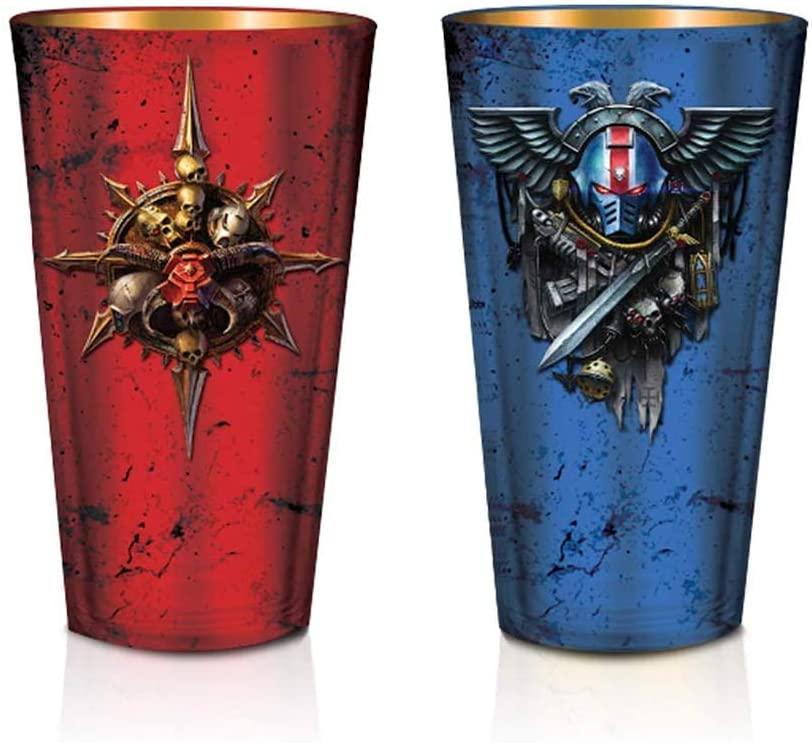 Warhammer 40K Pint Glasses (Set of 2), 16 OZ - Games Workshop, By JustFunky