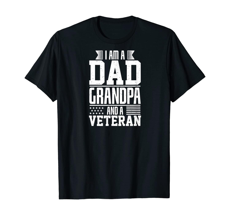 Mens Veteran Shirt US Military Gift Patriotic Soldier T-Shirt