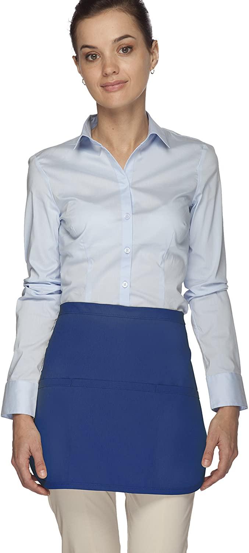 Averill's Sharper Uniforms Three Pocket Rounded Waist Apron Standard (Set of 6)