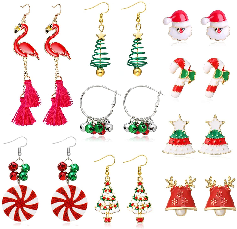 choice of all Cute Flamingo Earrings - Christmas Flamingos Earrings Set Festival Thanksgiving Gifts