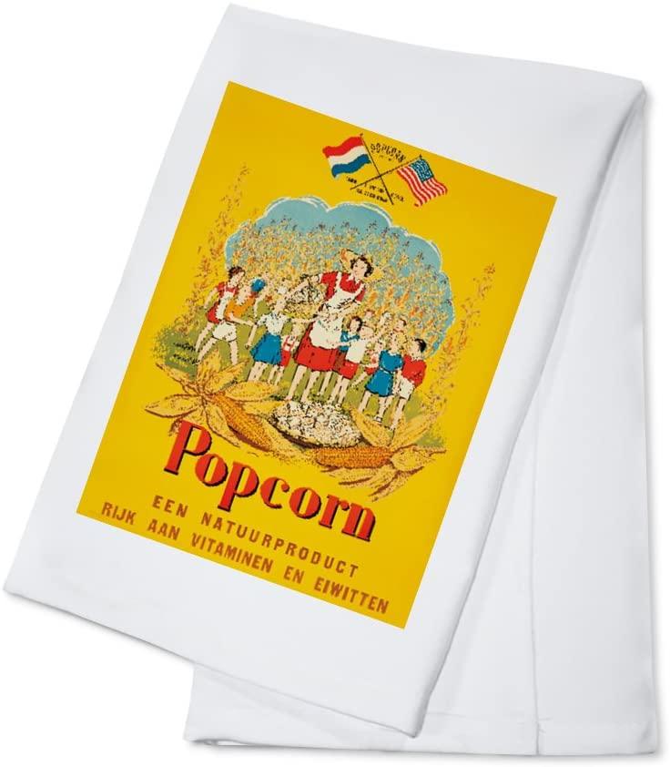 Popcorn Vintage Poster c. 1944 (100% Cotton Kitchen Towel)
