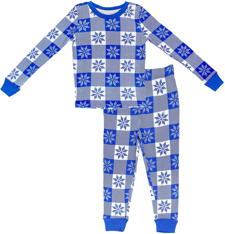 Secret Santa Big Kids Christmas Holiday Pajama Set