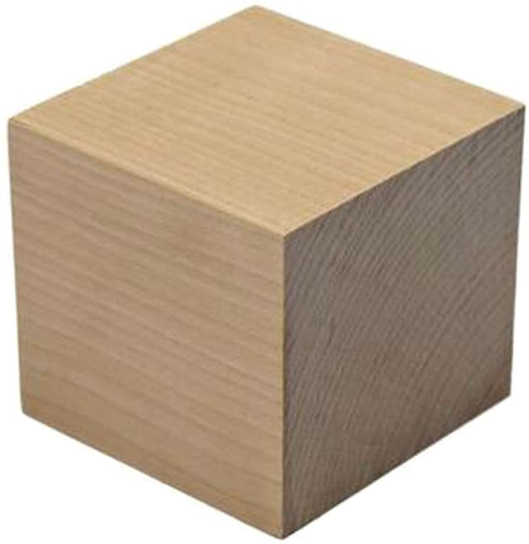 Natural Blank Smooth Wooden Cubes - 2-3/4 Inch - Unfinished Craft Wood Square Blocks for Photo Blocks and Carving Art Crafts & DIY Projects Supplies