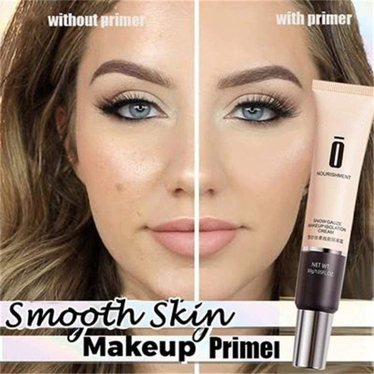 2Pcs Por eless Primer Cream, No Pore Blem Primer Base, Redness & Pore Covering Green Toned Makeup Base Primer, Skin Tone Correcting and Brightening Primer Purple Toned Makeup Base Primer (Natural)