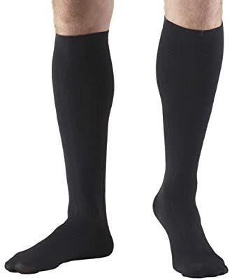 Made in the USA – Microfiber Compression Travel Socks 15-20 mmHg (Black, Small)