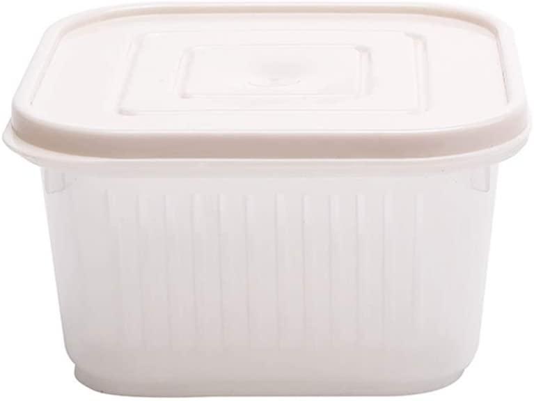 minansosteyPlastic Storage Refrigerator Crisper Box for Ginger Garlic Onion Vegetable Food