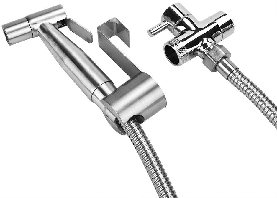 Handheld Bidet Spray Shower Head Bathroom Toilet Adapter Hose Kit Bidet Spray Shower for Toilet, Baby Cloth Diaper Sprayer(Copper water separator)