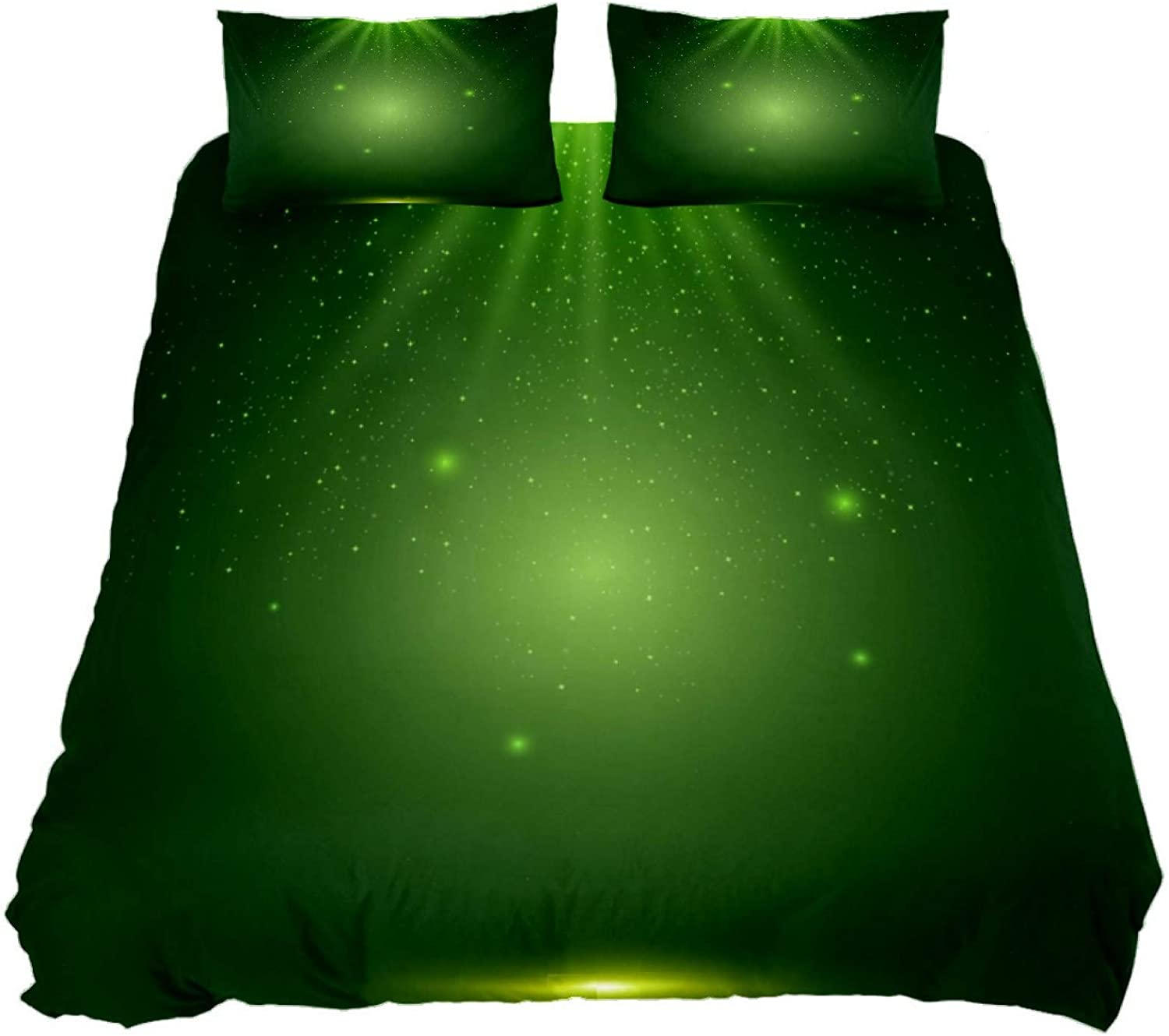 N\O Shiny St-Patricks Bedding Sets Breathable Bedclothes 3 Pieces Bedding Duvet Cover Sets (1 Duvet Cover + 2 Pillowcases) Room Decor Ultra Soft Microfiber(NO Comforter Included)