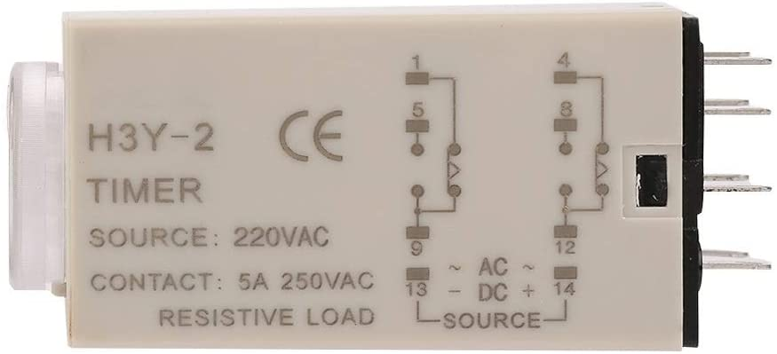AC H3Y-2 Delay Timer, Time Relay, 0-10 Second 10s Relay 220V