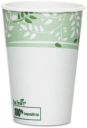 EcoSmart Hot Cups, Paper w/PLA Lining, Viridian, 16oz, 50/Pack, Sold as 50 Each by Dixie