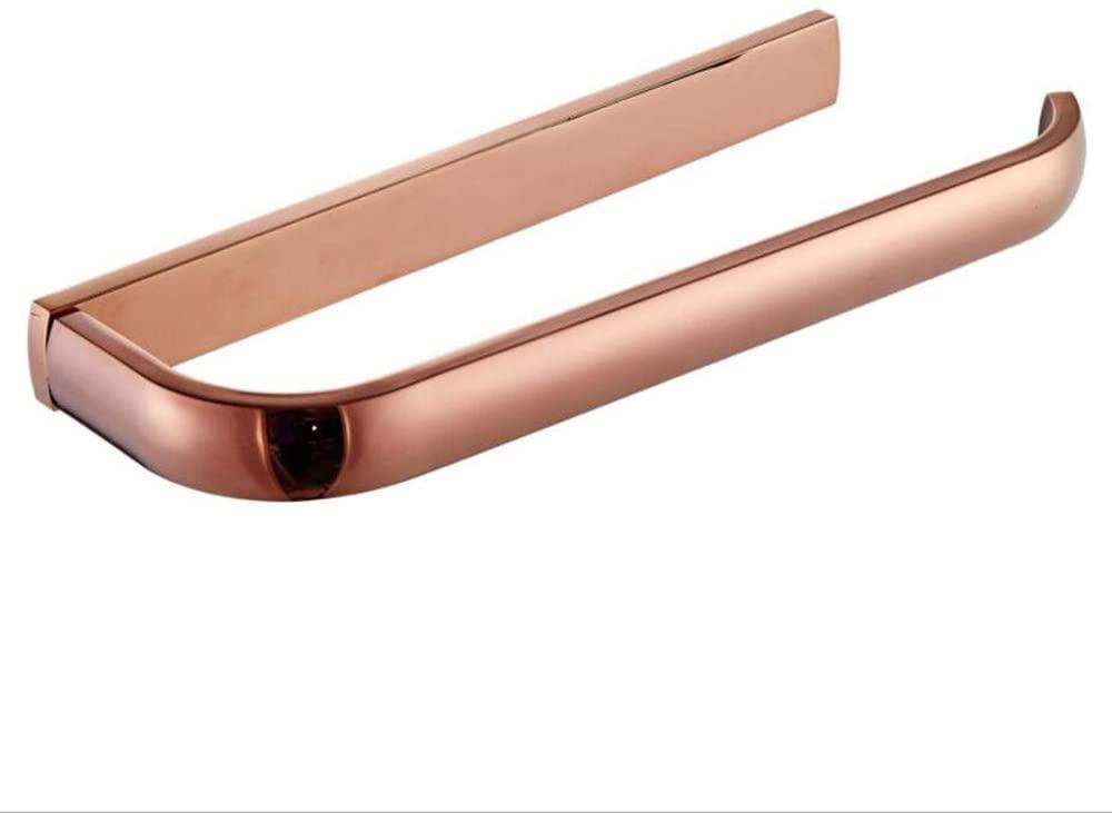 ETmla European-Style Simple Plating Rose Gold Simple Brass Towel Ring Towel bar Bathroom Hardware Accessories