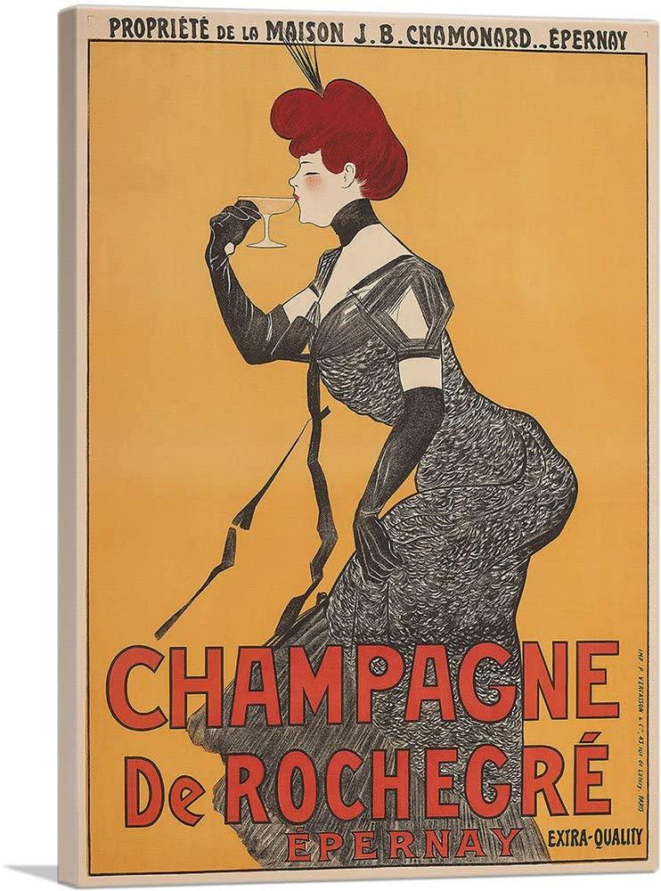 ARTCANVAS Champagne de Rochegre Epernay 1902 Canvas Art Print by Leonetto Cappiello - 40