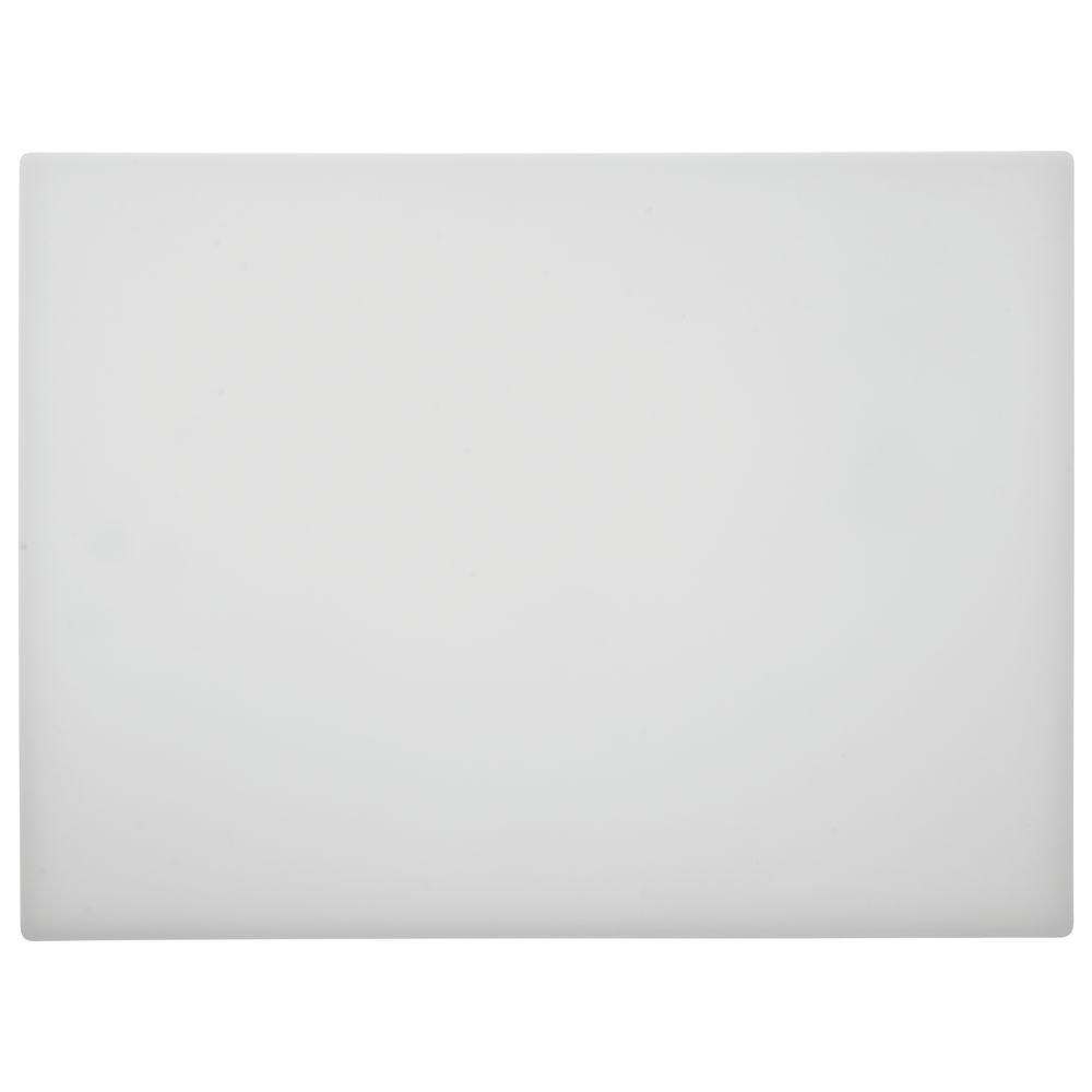 HUBERT White Plastic Cutting Board - 15
