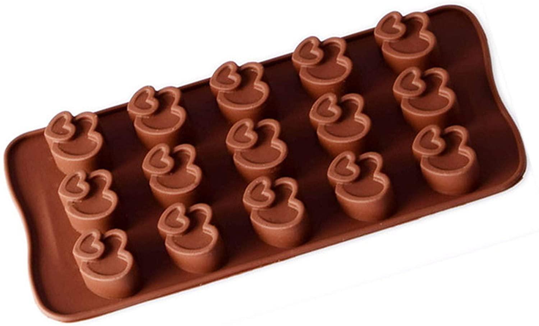 15 Heart-shaped Silicone Baking Mold Cake Rock Sugar Brown Sugar Mold Chocolate Ice Tray Ice Cubes Manual DIY Epoxy
