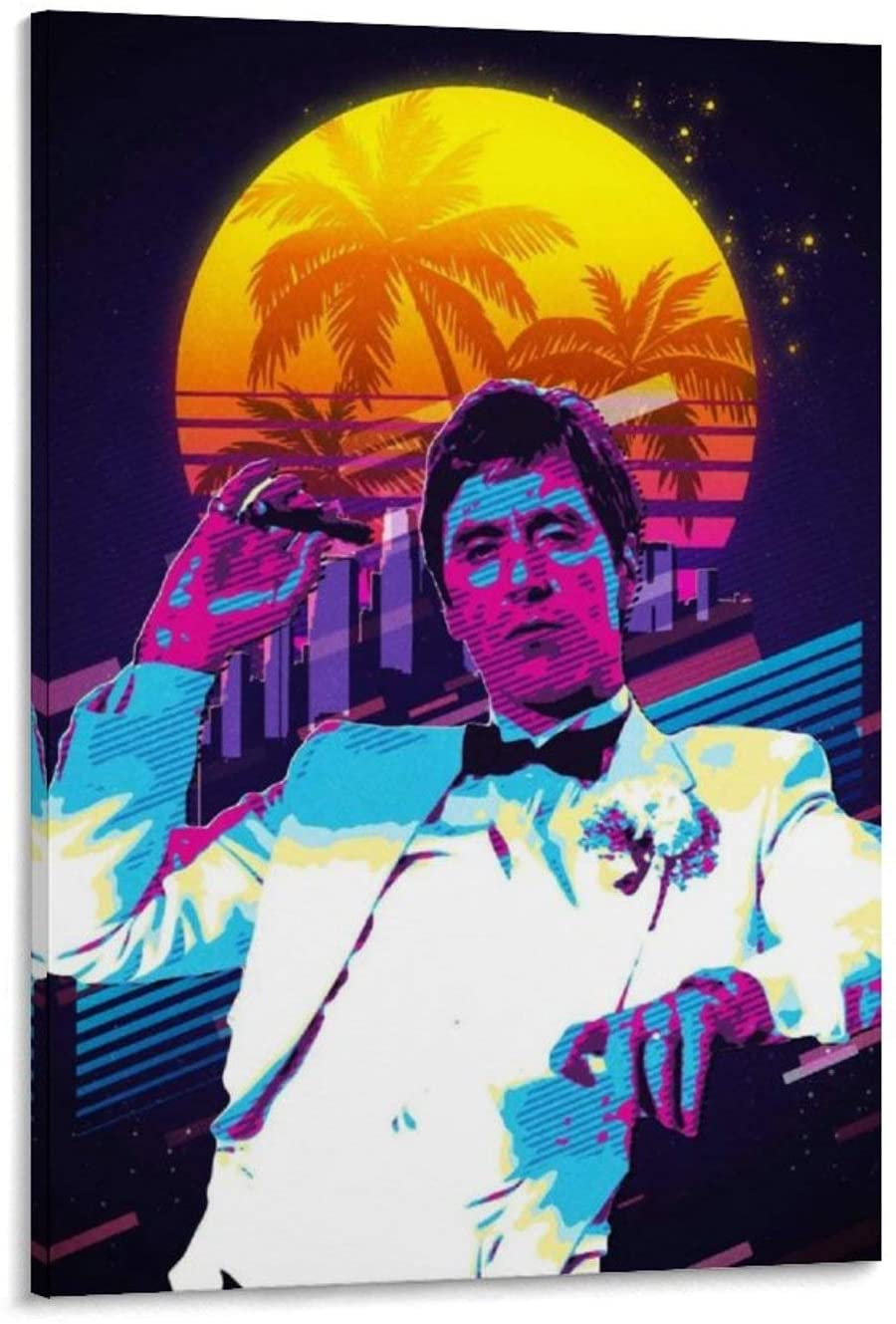 caomei Scarface Canvas Art Poster and Wall Art Picture Print Modern Family Bedroom Decor Posters 20x30inch(50x75cm)