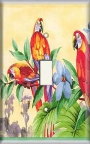 Decorative Light Switch Plate Cover - Tropical Birds