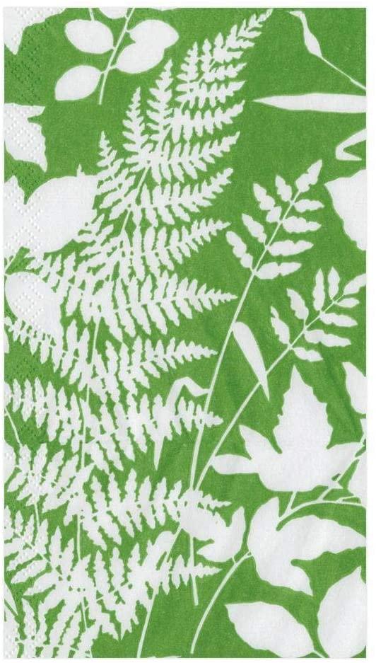 Caspari Modern Fern Paper Guest Towel Napkins in Kelly Green, 30 Count