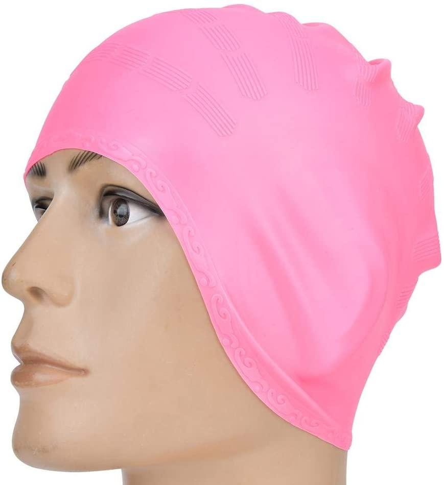 Swim Pool Hat, Swimming Pool Cap, Swim Protector Cap, Silicone Comfortable Long Hair/Ear Protection Adult Children Unisex for Swimming Pool