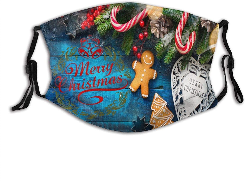 Christmas Tree Santa Claus Face Mask Washable & Reusable - Adjustable & Breathable Fliter Fashion Scarf