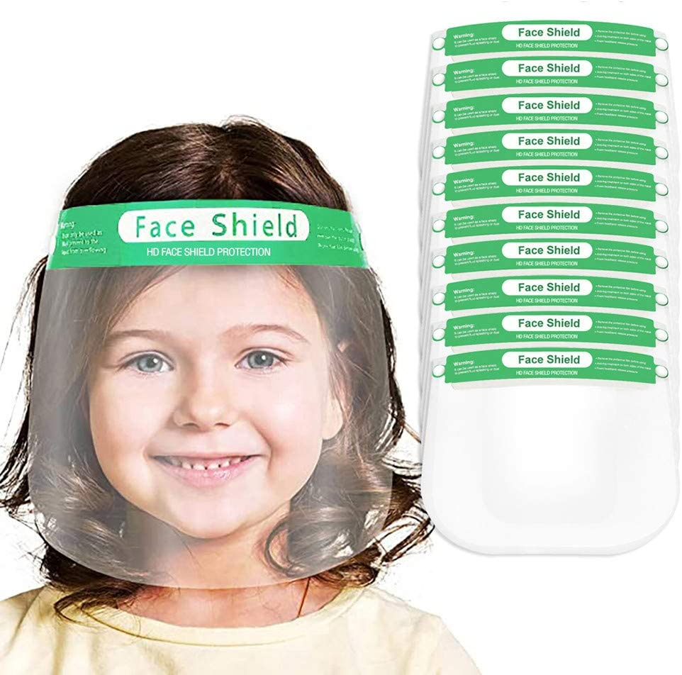 Kids Protective Face Shield, Safety Full Face Clear Visor Face protect, Protect Eyes and Face, Facial-Covering for Children Outdoor School Headwear