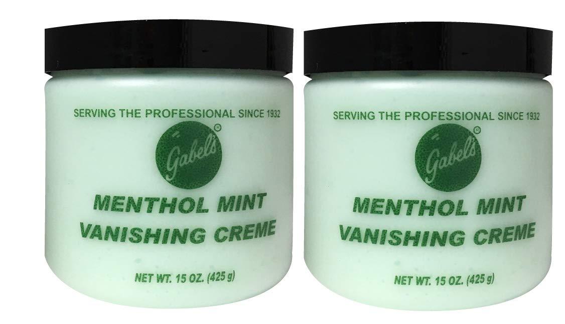 Gabels Menthol Mint Vanishing Creme, formulated professional aftershave creme, 15 oz, Pack of 2
