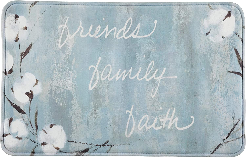 Comfort Cushion Anti-Fatigue Kitchen Mats (2-Pack) (Friends Family Faith)