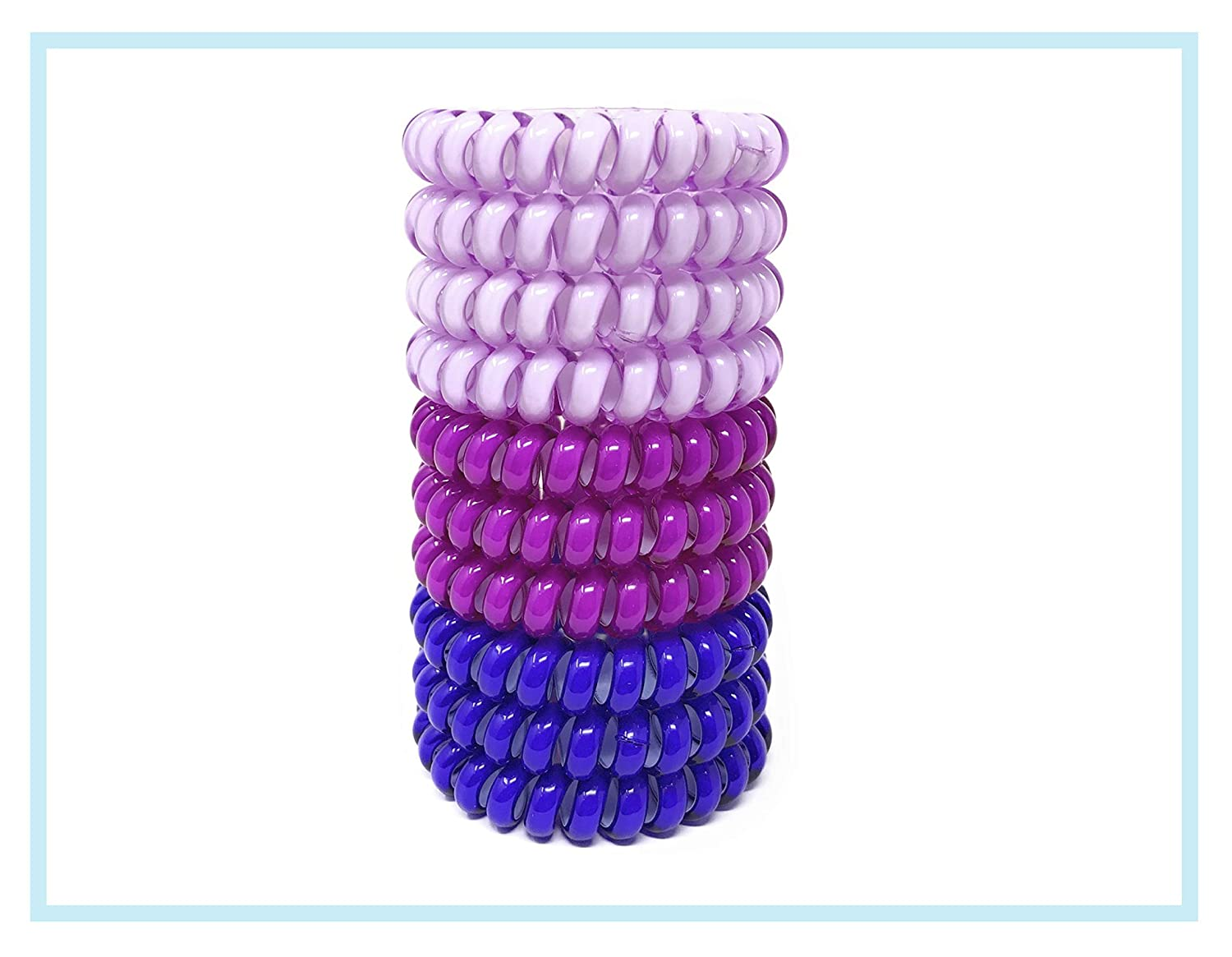 Yolo Studio Phone Cord Hair Tie Coil Hair Ties For Women Girls 10 Pieces (SET 2)