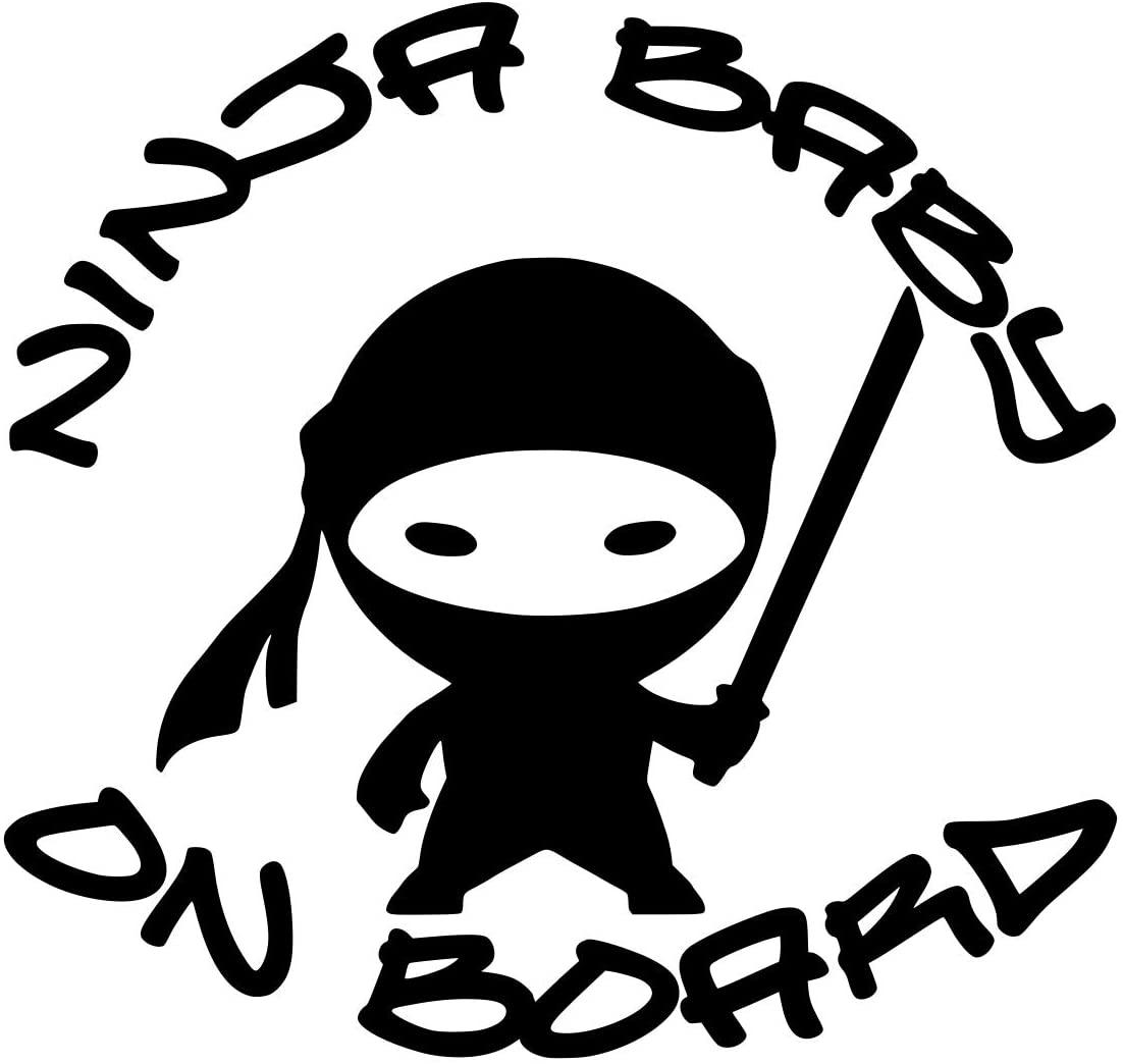 UR Impressions Blk Ninja Baby on Board Decal Vinyl Sticker Graphics for Cars Trucks SUV Vans Walls Windows Laptop|Black|5.5 X 5.2 Inch|URI348-B