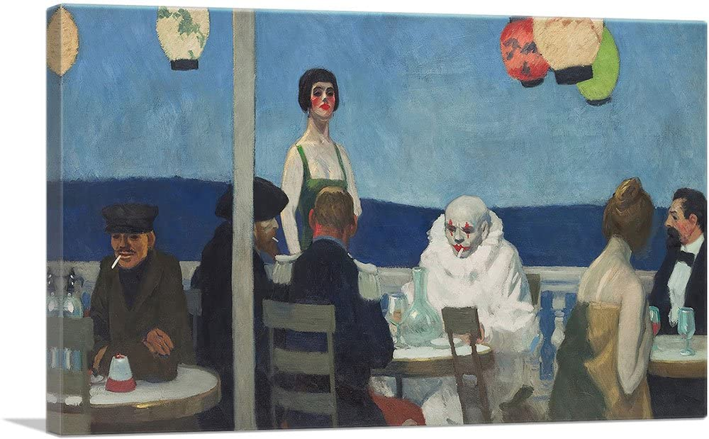 ARTCANVAS Soir Bleu 1914 Canvas Art Print by Edward Hopper - 26 x 18 (1.50 Deep)