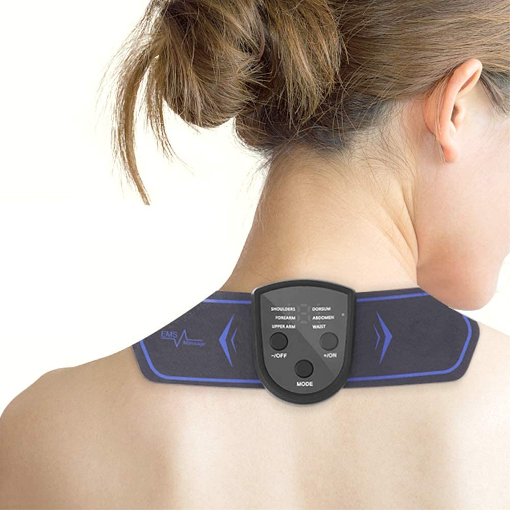 Bomel Mini, Portable EMS Massagers for Neck,Back or Shoulders,Rechargeable, Multi-functional EMS(Electronic Muscle Simulator) Massager Tool, Massager Pad for Muscle Pain or Fatigue or stiffness Relief