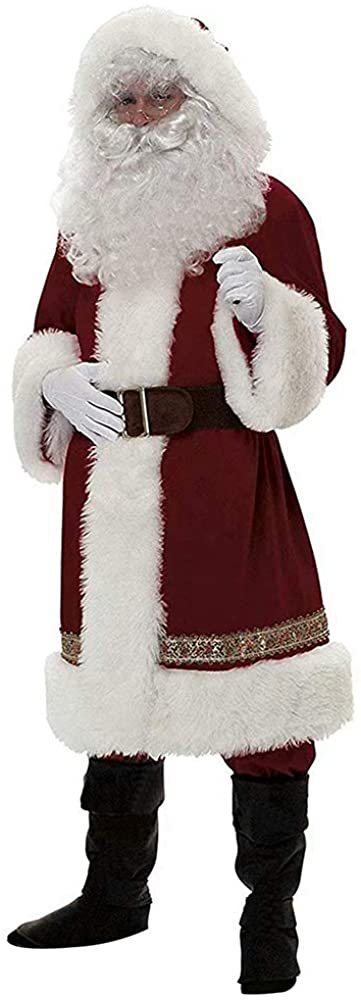 Santa Claus Costume Adult Santa Claus Christmas Suit Costume Set for Party Cosplay