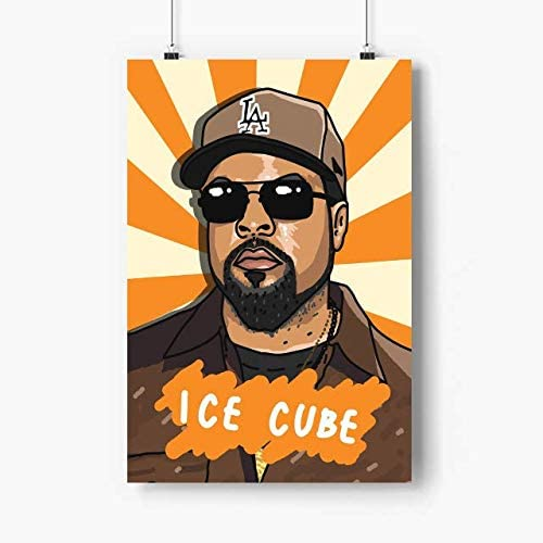 Venus Store Ice Cube Poster Art Prints - No Frame - N.2140 - Size 12x18 Inches - Hip Hop Rap Music Poster Art Print, American Rappers, Rapper Gift for Husband, Wife, Son, Grandson