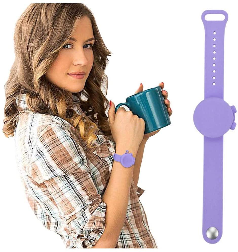 Hand Sanitizer Bracelet Dispenser, Travel Sanitizing Gel Holder, Refillable Keychain, Wearable Hand Sanitizer Travel Size Holder