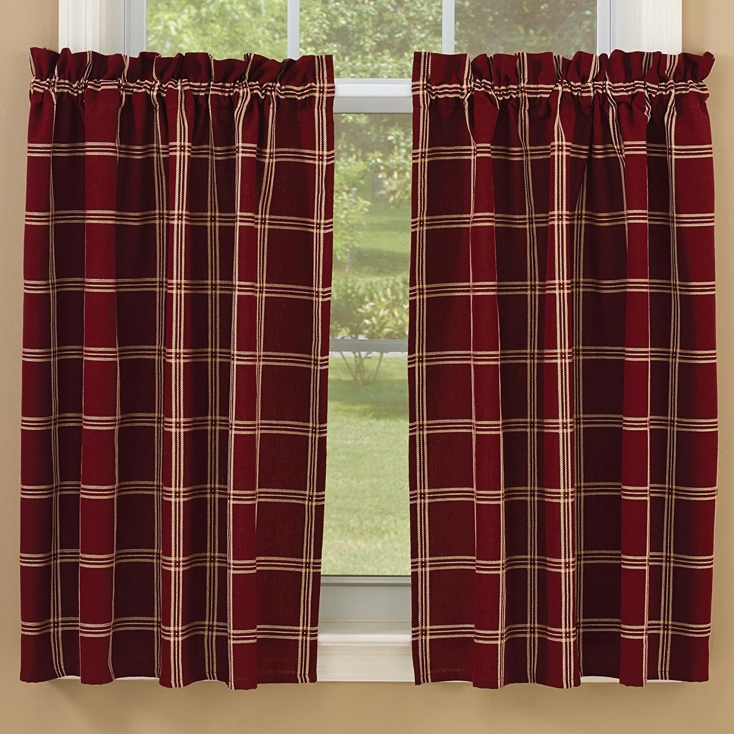 Windsor Star Lined 36 Inch Curtain Tiers