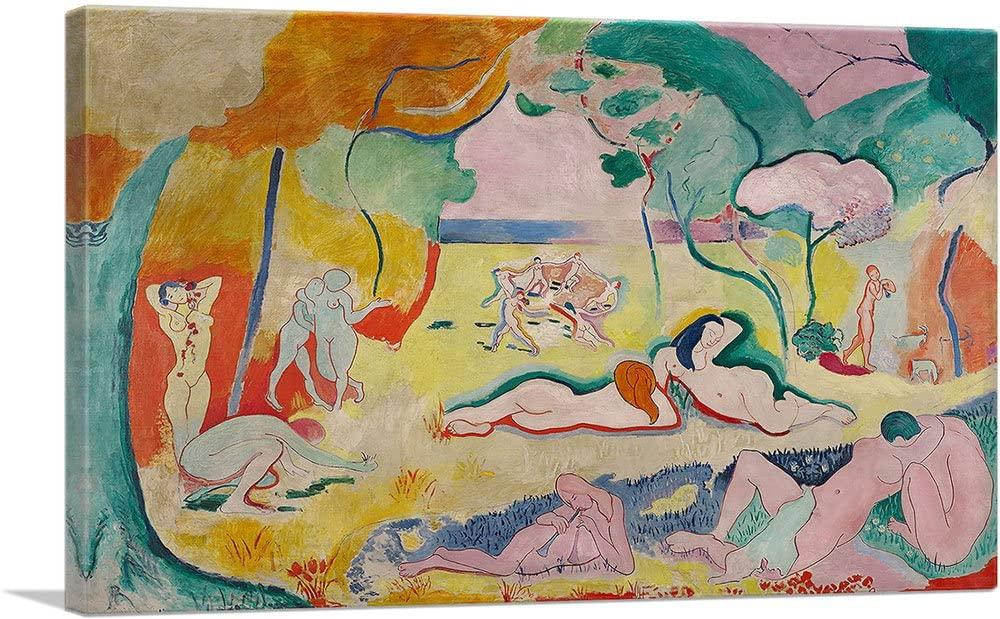 ARTCANVAS The Joy of Life 1906 Canvas Art Print by Henri Matisse - 26 x 18 (0.75 Deep)