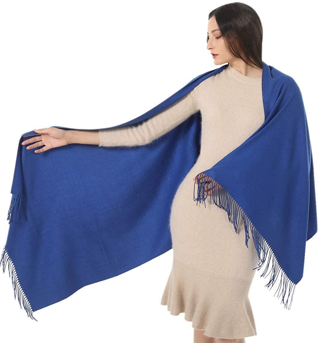 Womens Shawl Wrap Scarf Pashmina Cashmere Soft-Gift Idea Wedding Birthday stole