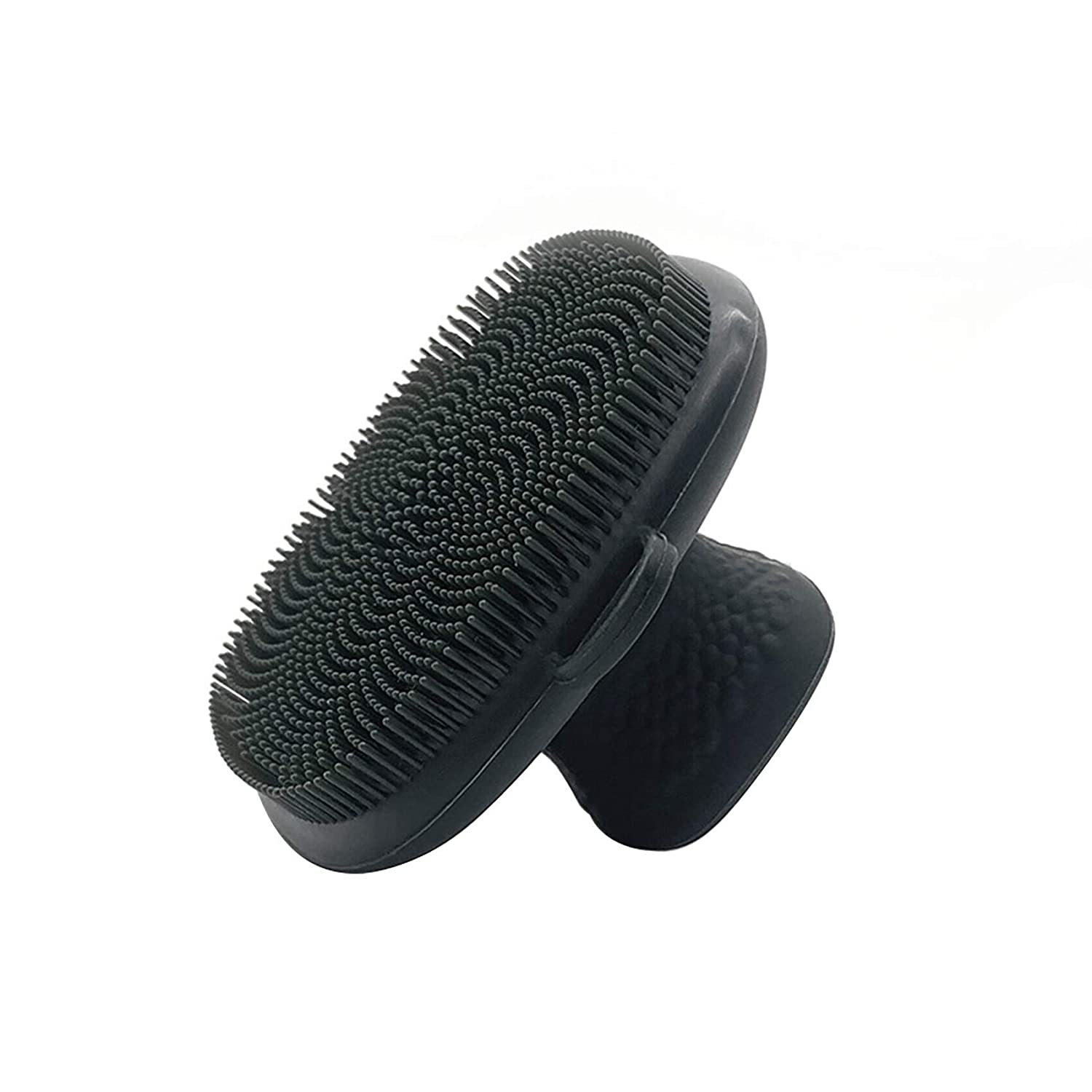 Facial Cleansing Brush Silicone, Ergonomic Design, Portable and Convenient,Cleansing Skin Care Face Brushes for Cleansing and Exfoliating (Black)