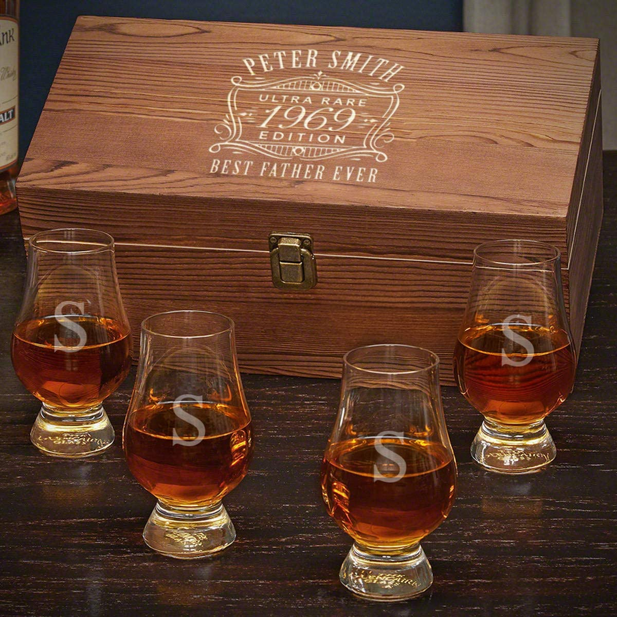 Ultra Rare Edition Engraved Glencairn Whiskey Glass Set (Personalized Product)