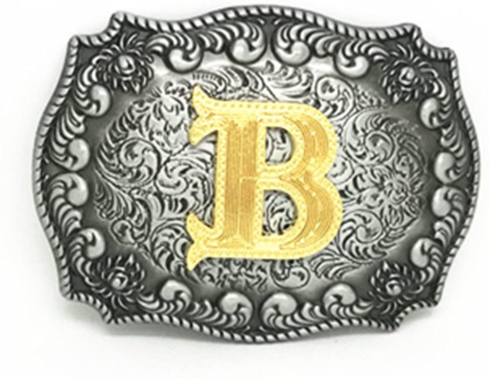 KeCol Western Cowboy A to Z Alphabet Rodeo Initial Letters Buckles for Men Women