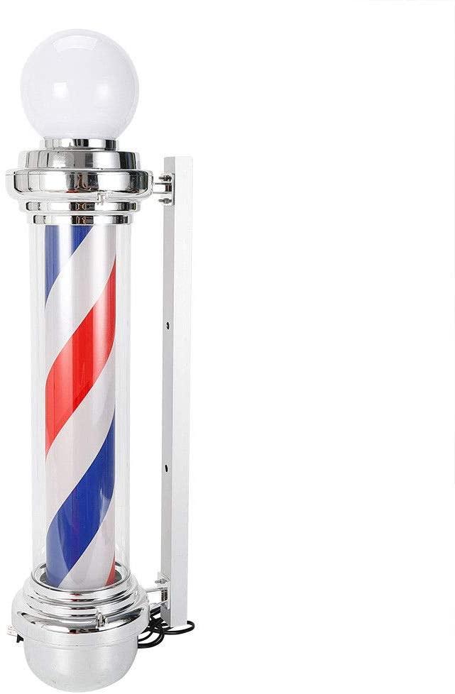 Barber Pole LED Light, Barber Shop Pole Red White Blue Rotating LED Stripes Light Sigh Hair Salon (Stye 1 32'')